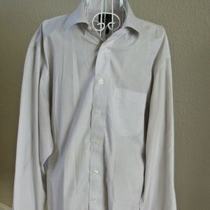 JoS A Bank Fitted 16.5-36 Egyptian Cotton Shirt